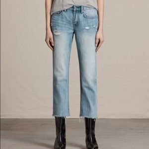 All Saints NWOT Distressed Jeans